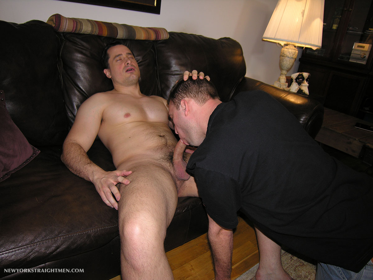 Straight cock sucking man