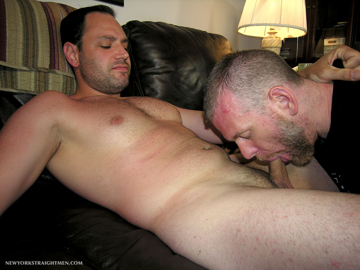 Straight gay man blowjob free ass