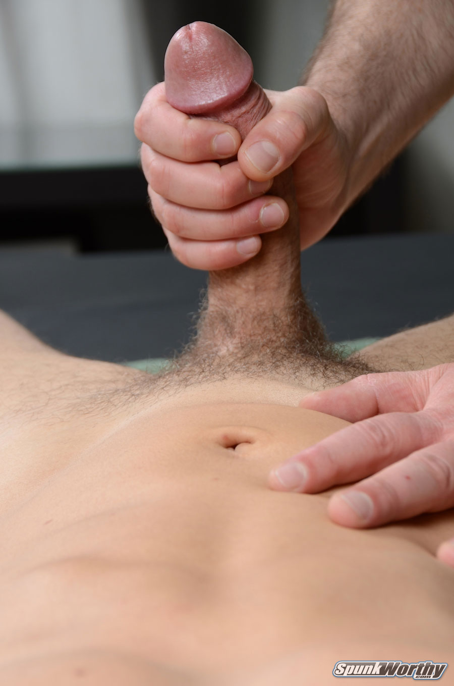 SpunkWorthy-Tommy-Straight-Guys-First-Blow-Job-From-A-Gay-Guy-Massage-Amateur-Gay-Porn-15 Amateur Straight Guy Gets His First Massage With A Happy Ending