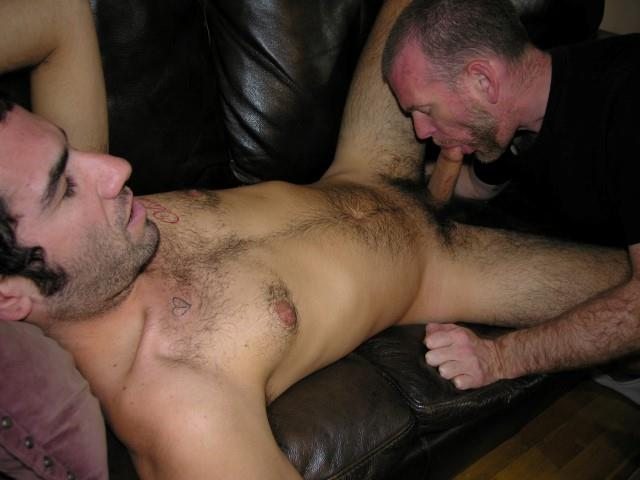 Super Hairy Bear Getting His Cock Sucked By Gay