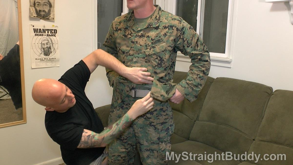 My-Straight-Buddy-Joe-and-Nick-Marine-Gets-His-Cock-Sucked-Amateur-Gay-Porn-01 Mystery Marine In Uniform Gets A Blow Job From Another Guy