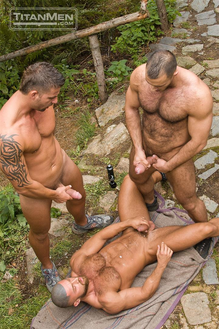 TitanMen Cum Shots from Hairy Muscle Hunks Amateur Gay Porn 5 One Video and A Gallon Of Hot Cum