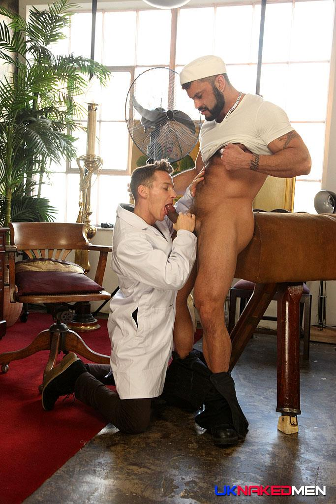 A gay doctor gives straight guy blowjob 2