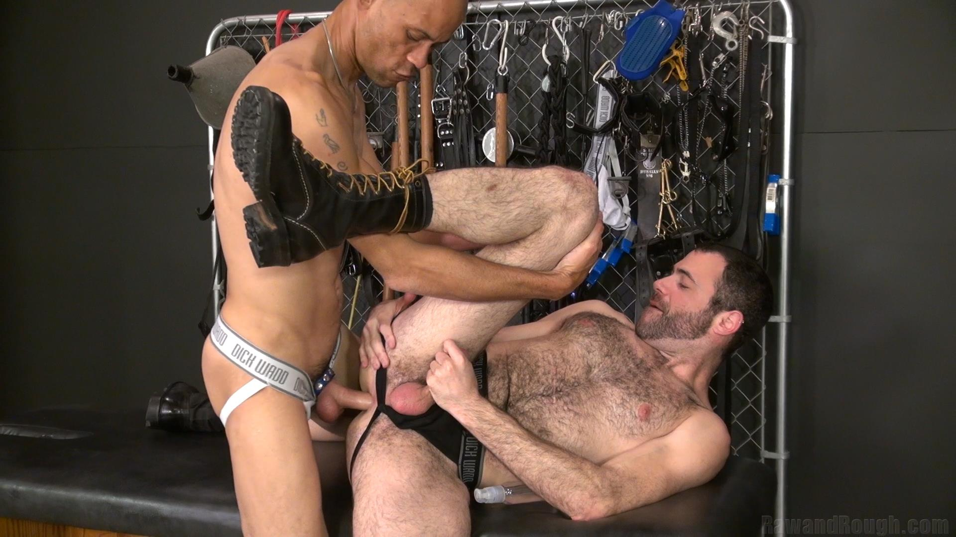 Raw and Rough Dusty Williams and Seth Patrick Barebacking A Stranger at A Sex Club Hairy Amateur Gay Porn 01 Barebacking A Hairy Guy At A Gay Sex Club
