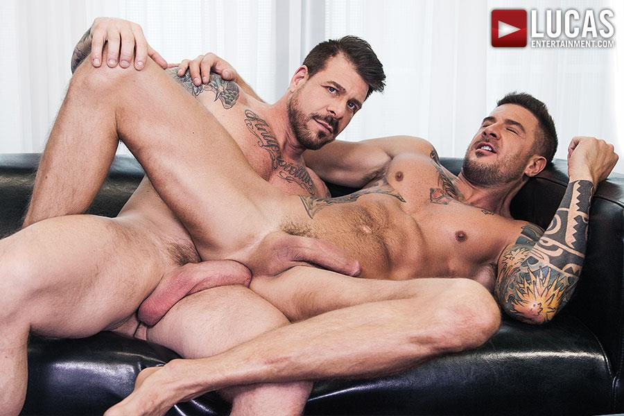 Lucas Entertainment Rocco Steele and Dolf Dietrich Big Cock Barback Muscle Hunks Amateur Gay Porn 09 Rocco Steele Breeding Dolf Dietrich With His Massive Cock