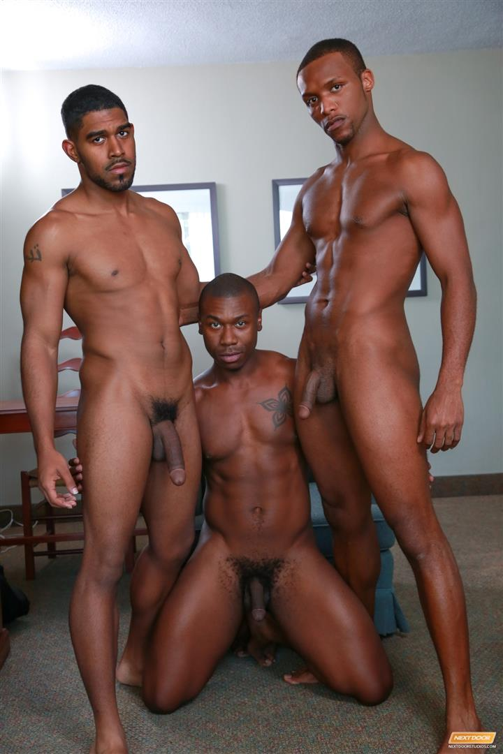 Next-Door-Ebony-Damian-Brooks-and-XL-and-Andre-Donovan-Black-Naked-Men-Fucking-Amateur-Gay-Porn-11 Three Naked Black Men, Three Big Black Cocks, One Juicy Booty