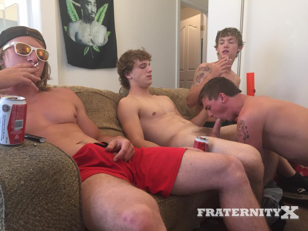 Fraternity X College Frat Guys Naked and Fucking Bareback Amateur Gay Porn 22 Drunk Frat Guys Getting Stoned and Barebacking A Freshman Pledge