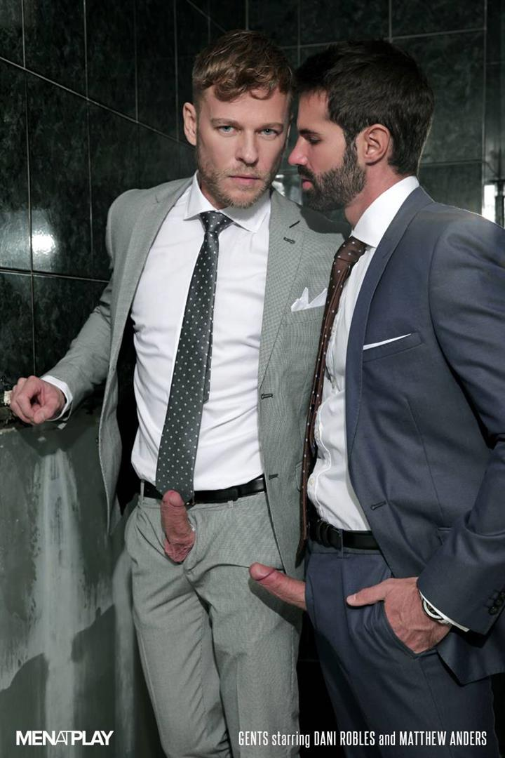 Men-At-Play-Matthew-Anders-and-Dani-Robles-Men-In-Suits-With-Big-Cocks-Fucking-Amateur-Gay-Porn-01 Looking For Cock and A Fuck In the Men's Restroom
