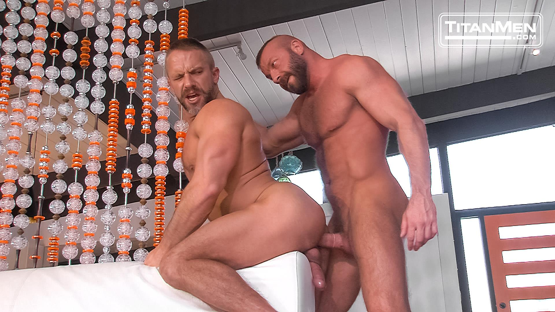 Titanmen Titan Hunter Marx and Dirk Caber Hairy Muscle Daddy Fuck Amateur Gay Porn 34 Dirk Carber Gets Fucked Hard By Another Muscle Daddy With A Thick Cock