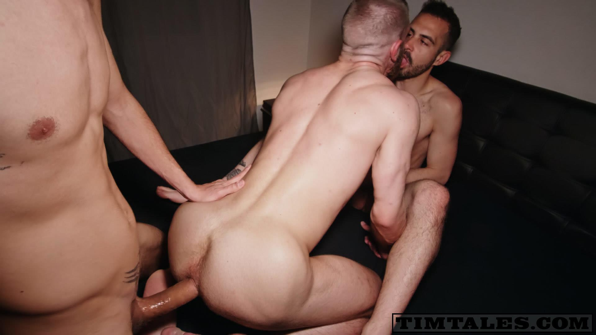TimTales-Caleb-King-and-Koldo-and-Franklin-Acevedo-Big-Uncut-Cock-Double-Penetration-Bareback-21 TimTales:  Caleb King Takes Two Huge Uncut Bareback Cocks